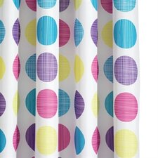 Textured Dots Polyester Textile Shower Curtain