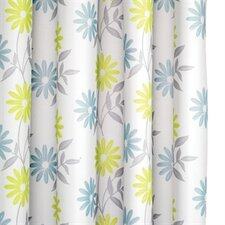 Scribble Flower Polyester Textile Shower Curtain