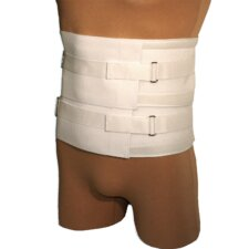 Universal Duo-Compression Lumbosacral Support in White