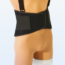 Deluxe Vel-Foam Back Belt in Black
