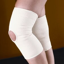 Slip-On Knee Support with Patella Hole in Cream