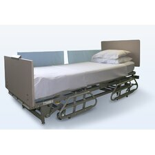 Half-Size Bed Rail Pads in Light Blue
