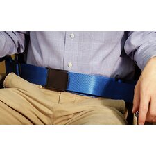 Resident-Release Nylon Belt with Resident-Friendly Buckle in Royal Blue