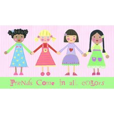 Multi Girls and Friends Come in All Colors Wall Art
