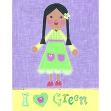 Green Girl - Starla Wall Art
