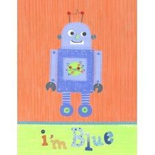 I'm Blue Robot Canvas Art