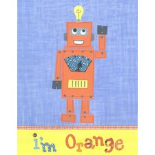 I'm Orange Robot Wall Art