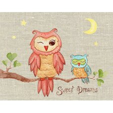 Baby Owls Sweet Dreams Canvas Art