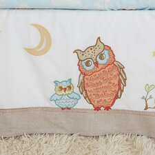 <strong>The Little Acorn</strong> Baby Owls Crib Bed Skirt
