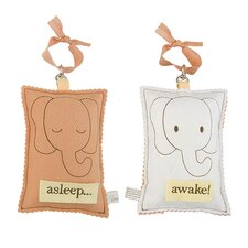 Elephant Asleep / Awake Sign