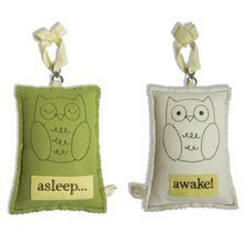Owl Asleep / Awake Sign
