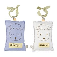 <strong>Tree by Kerri Lee</strong> Sheep Asleep / Awake Sign in Distressed Blue