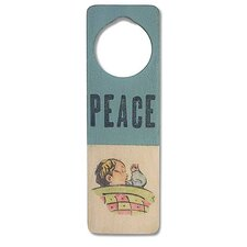 """Peace"" Wooden Doorknob Sign"
