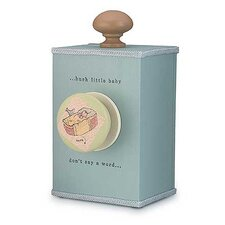 "<strong>Tree by Kerri Lee</strong> ""Hush Little Baby"" Wind Up Music Box in Distressed Turquoise"