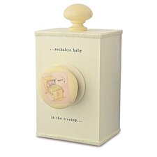 "<strong>Tree by Kerri Lee</strong> ""Rockabye Baby"" Wind Up Music Box in Distressed Cream"