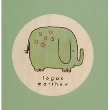Elephant Picture Frame in Distressed Green