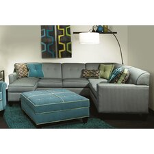 Tiffany 3 Piece Sectional with Chaise Ottoman