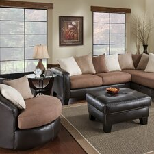 Burke Barrel Tub Chair and Ottoman