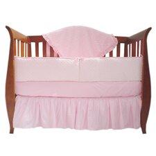 Heavenly Soft 4 Piece Minky Dot Crib Bedding Set
