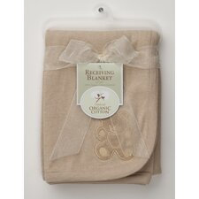 <strong>American Baby Company</strong> Organic Cotton Interlock Embroidery Blanket