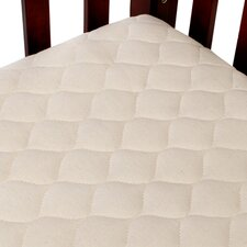 <strong>American Baby Company</strong> Organic Quilted Portable Crib Mattress Pad Fitted