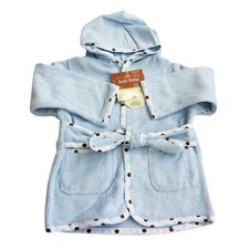 Organic Terry Baby Bath Robe in Blue