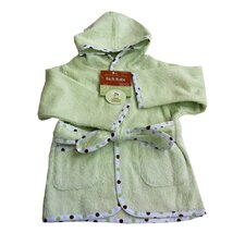 Organic Terry Baby Bath Robe in Celery