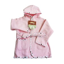 Organic Terry Baby Bath Robe in Pink