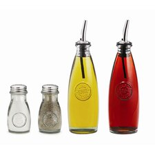 Authentic Recycled Oil and Vinegar Bottle Set