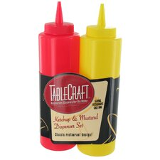 <strong>Tablecraft</strong> 12 Oz. Ketchup and Mustard Bottle (Set of 2)