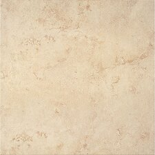 "Bruselas 16"" x 16"" Ceramic Floor Tile in Bone"