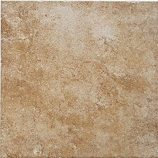 "Montreaux 13"" x 13"" Ceramic Floor Tile in Brun"