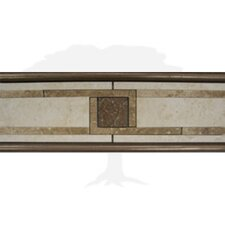 "Montreaux 12"" x 4-1/4"" Ceramic Border Tile in Blanc/Brun/Bronze"
