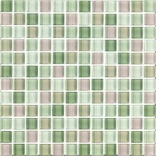 "Shimmer Blends 1"" x 1"" Glossy Mosaic in Garden"
