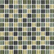 """Shimmer Blends 1"""" x 1"""" Matte Mosaic in Ocean"""