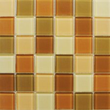 "<strong>Interceramic</strong> Shimmer Blends 12"" x 12"" Glossy Mosaic in Coral"