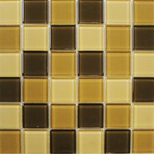 "Shimmer Blends 2"" x 2"" Glossy Mosaic in Desert"