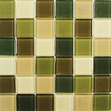 "Shimmer Blends 2"" x 2"" Glossy Mosaic in Foliage"