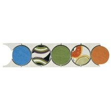 "Aquarelle 18"" x 4"" Ceramic Wall Tile in Fandango Listel Mosaic"