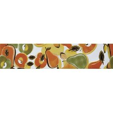 "Aquarelle 18"" x 4"" Ceramic Wall Tile in Citrics Listel"