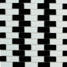 "Shimmer Blends 12"" x 12"" Glossy Mosaic in Checkerboard"