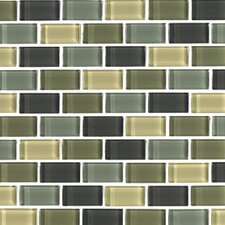 "Shimmer Blends 12"" x 12"" Glossy Mosaic in Ocean"