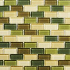 "<strong>Interceramic</strong> Shimmer Blends 12"" x 12"" Glossy Mosaic in Foliage"