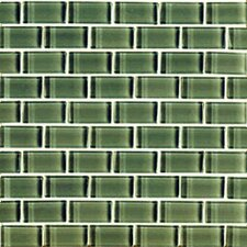 "<strong>Interceramic</strong> Shimmer 12"" x 12"" Glossy Mosaic in Forest"