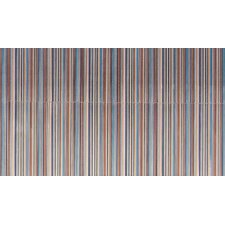 "Aquarelle 12"" x 18"" Ceramic Wall Tile in Blue Insert Stripes"