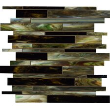 "<strong>Marazzi</strong> Catwalk 12"" x 12"" Random Glass Mosaic in Jade Jellies"