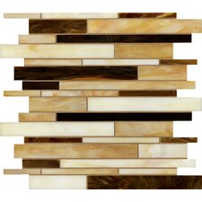 "<strong>Marazzi</strong> Catwalk 12"" x 12"" Random Glass Mosaic in Pecan Pump"