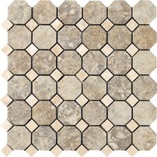 Campione Random Sized Octagon Mesh-Mounted Mosaic in Sampras