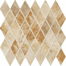 "Vesale Stone 13"" x 13"" Decorative Diamond Mosaic in Sand"