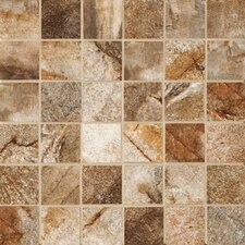 "Vesale Stone 2"" x 2"" Decorative Square Mosaic in Rust"